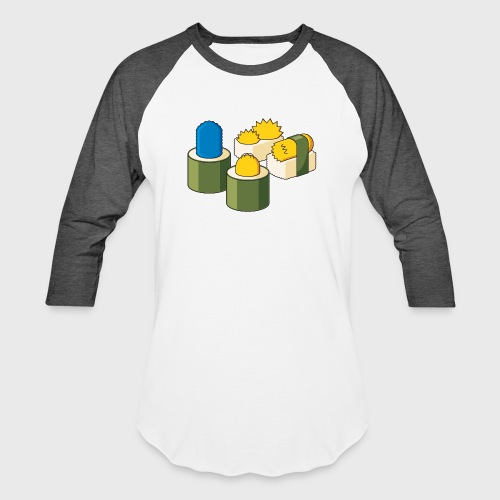 The Simpsons Sushi - Baseball T-Shirt