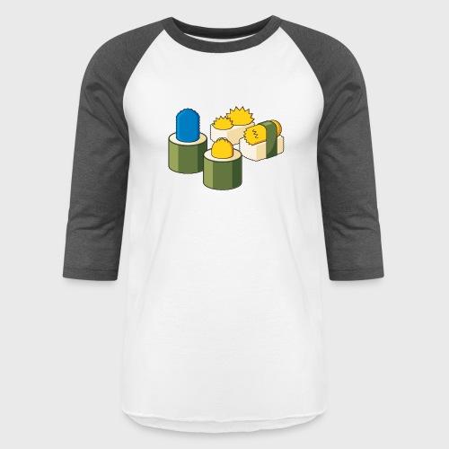 The Simpsons Sushi - Unisex Baseball T-Shirt