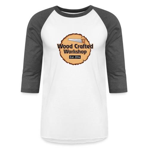 WoodCraftedWorkshop TransparentBg - Unisex Baseball T-Shirt