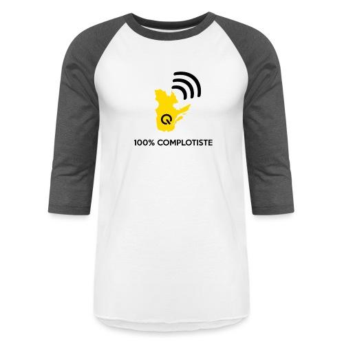 100% complotiste - T-shirt de baseball unisexe