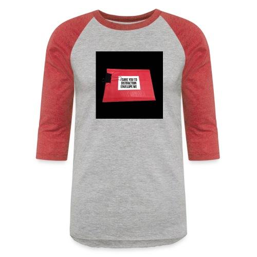 Distraction Envelope - Unisex Baseball T-Shirt