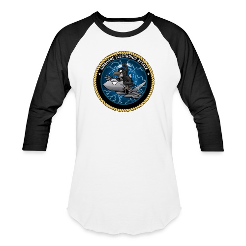 Airborne Electronic Attack EA-18 Growler Cartoon - Baseball T-Shirt