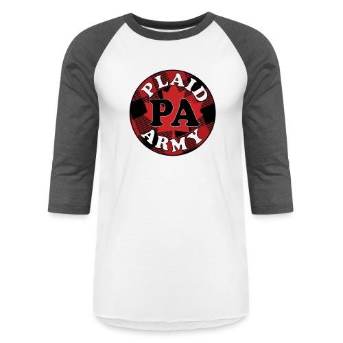 plaid army round - Baseball T-Shirt
