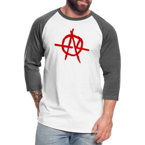Anarchy (Red) - Unisex Baseball T-Shirt