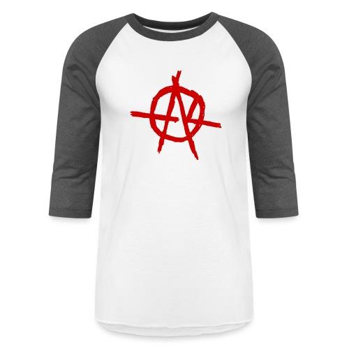 Anarchy (Red) - Unisex Baseball T-Shirt