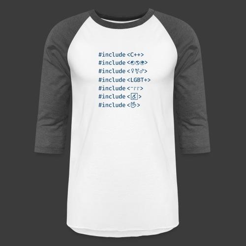 Include List (Light Background) - Unisex Baseball T-Shirt