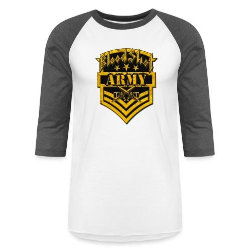 BloodShot ARMYLogo Gold /Black - Baseball T-Shirt