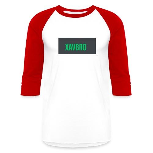 xavbro green logo - Unisex Baseball T-Shirt