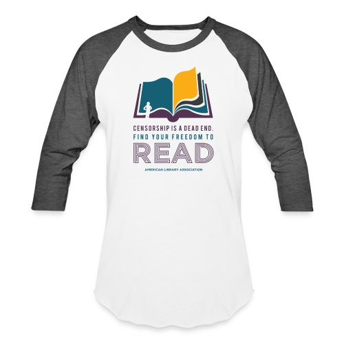 Find Your Freedom to Read - Unisex Baseball T-Shirt