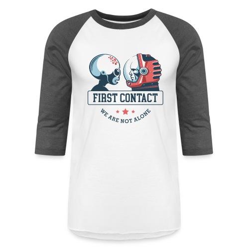 alien astronaut first contact - Unisex Baseball T-Shirt