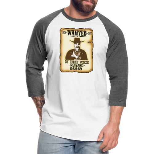 Cowboy Ox-Mad Wanted Poster! - Unisex Baseball T-Shirt