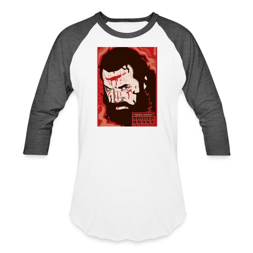 BRUISER BRODY Wrestling legend art print - Baseball T-Shirt