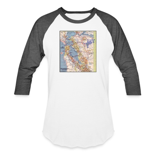 Phillips 66 Zodiac Killer Map June 26 - Baseball T-Shirt