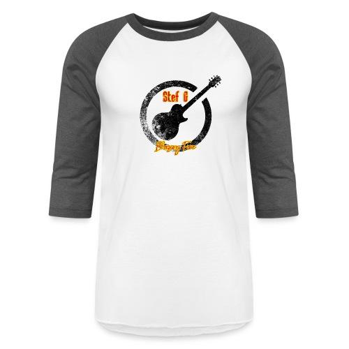 Stef G - Blazing Fire Design 1 - Unisex Baseball T-Shirt