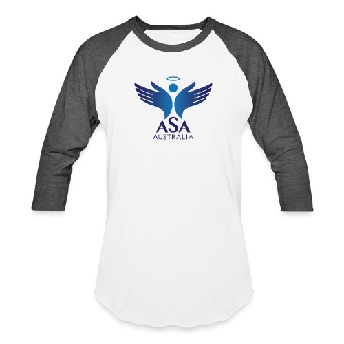 3459 Angelman Logo AUSTRALIA FA CMYK - Baseball T-Shirt