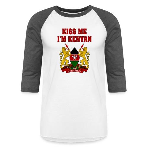 Kiss Me, I'm Kenyan - Unisex Baseball T-Shirt