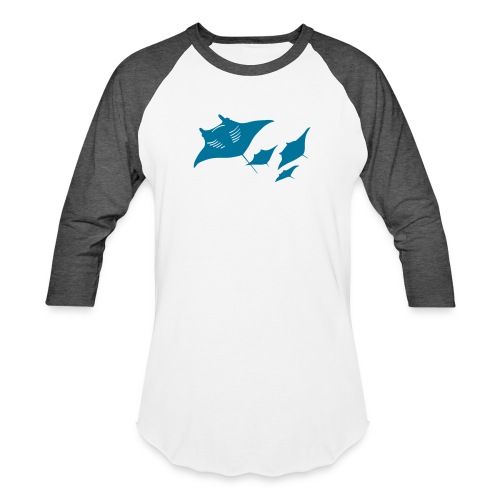 manta ray sting scuba diving diver dive - Baseball T-Shirt