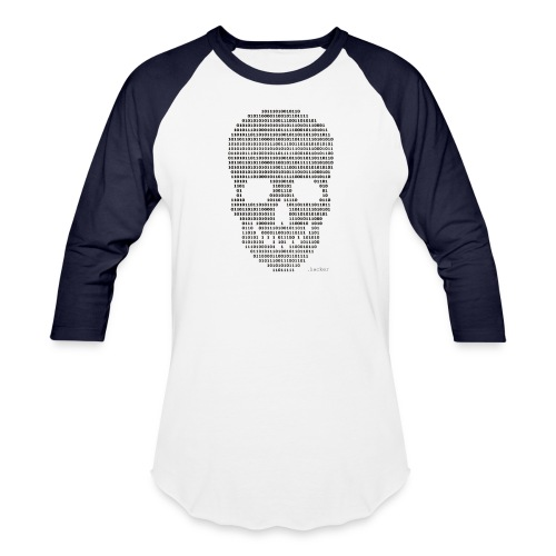 Hacker binary - Mens - Unisex Baseball T-Shirt