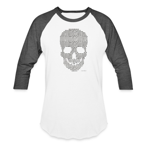 Hacker binary - Mens - Unisex Baseball T-Shirt