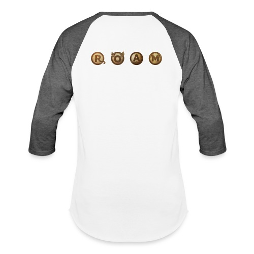 ROAM letters sepia - Baseball T-Shirt