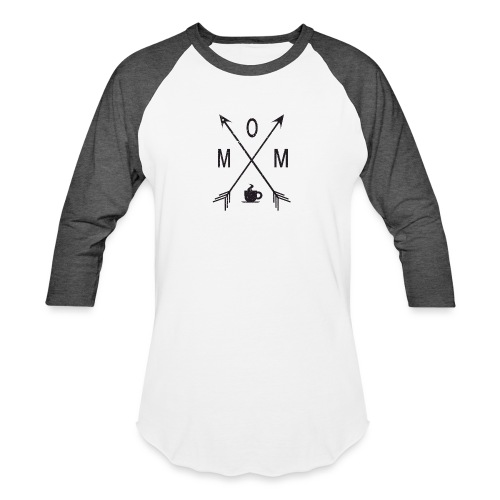 Mom Loves Coffee (black ink) - Baseball T-Shirt
