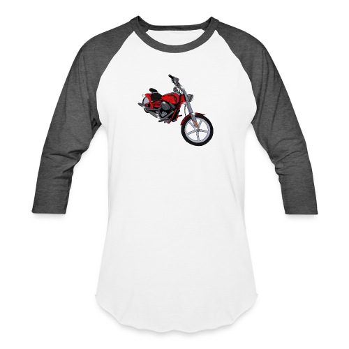 Motorcycle red - Baseball T-Shirt