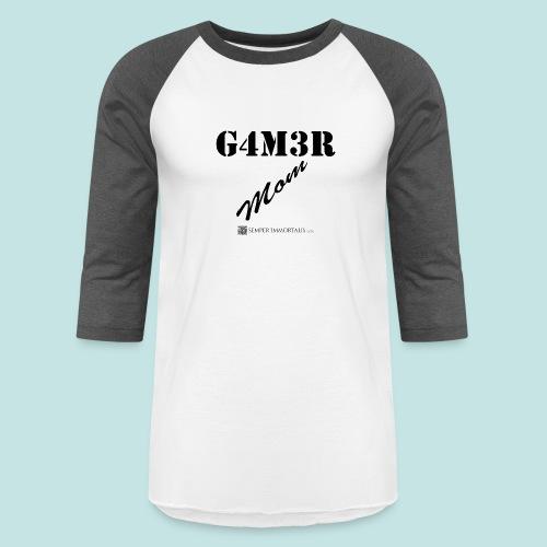 Gamer Mom (black) - Baseball T-Shirt