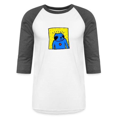 Sloth Portrait Hoodie - Baseball T-Shirt