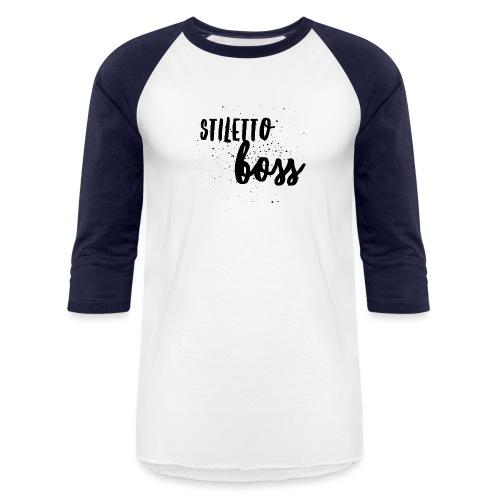 StilettoBoss Low-Blk - Unisex Baseball T-Shirt