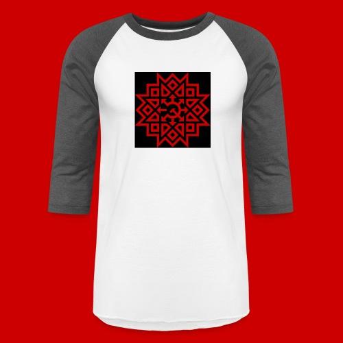 Chaos Communism Button - Unisex Baseball T-Shirt