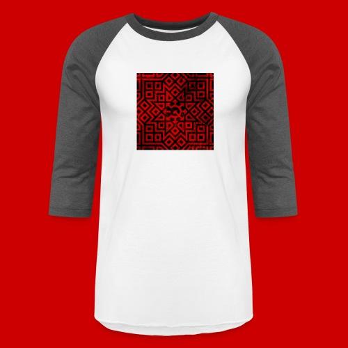 Detailed Chaos Communism Button - Unisex Baseball T-Shirt