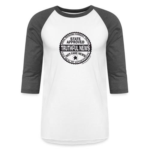 Truthful News FCC Seal - Unisex Baseball T-Shirt