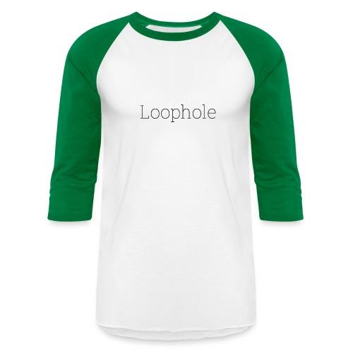 Loophole Abstract Design - Unisex Baseball T-Shirt