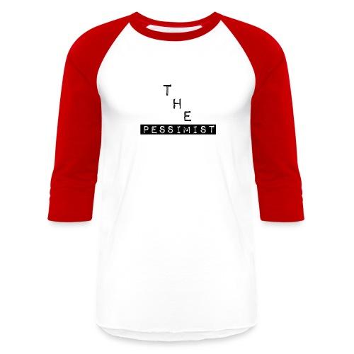 The Pessimist Abstract Design - Baseball T-Shirt
