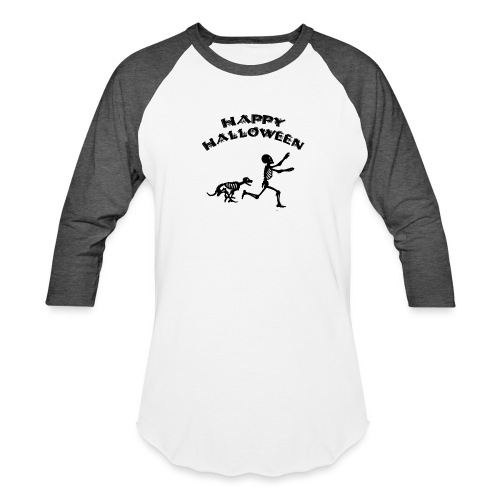 Halloween Boy and Dog - Baseball T-Shirt