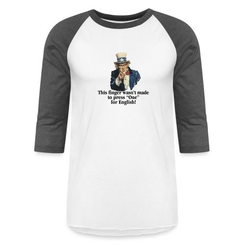 Uncle Sam - Finger - Unisex Baseball T-Shirt