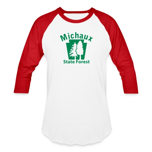 Michaux State Forest Keystone (w/trees) - Unisex Baseball T-Shirt