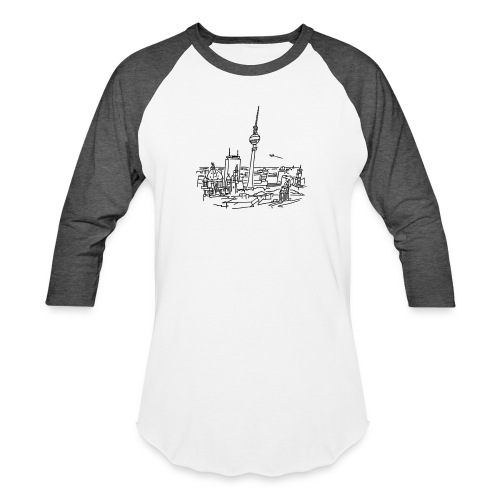 Panorama of Berlin - Unisex Baseball T-Shirt