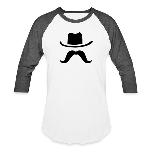 Hat & Mustache - Baseball T-Shirt
