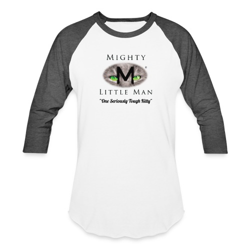 MIGHTY LITTLE MAN Logo - Unisex Baseball T-Shirt