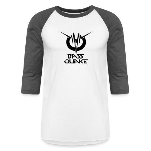 BASSQUAKE MONO LOGOTYPE BY FDS - Unisex Baseball T-Shirt