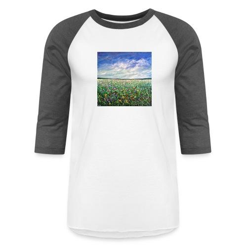 Field of Flowers - Unisex Baseball T-Shirt