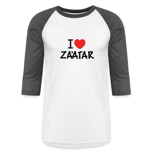 i love zaatar 1 - Unisex Baseball T-Shirt