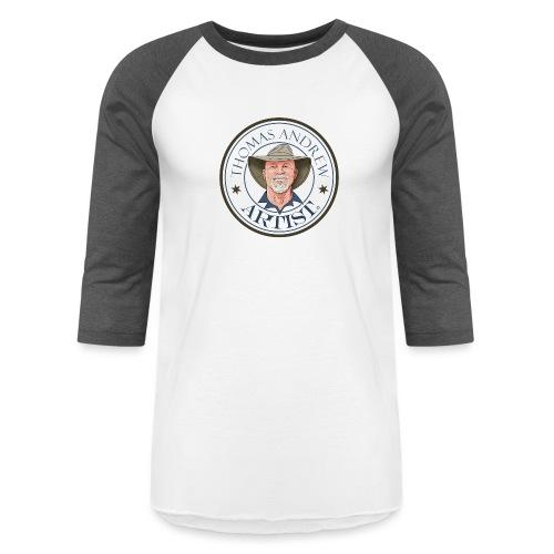 Thomas Andrew Artist Square Logo larger - Unisex Baseball T-Shirt