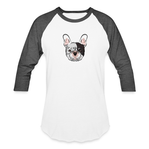 pngtree french bulldog dog cute pet - Unisex Baseball T-Shirt