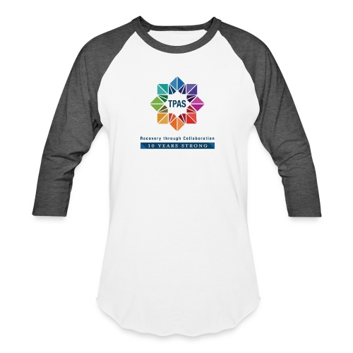 TPAS Color Stacked 10TH 5 13 TPAS OPTION A - Unisex Baseball T-Shirt