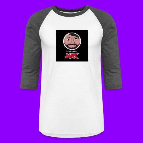 SarcasticMax cola beverage replacement label - Unisex Baseball T-Shirt