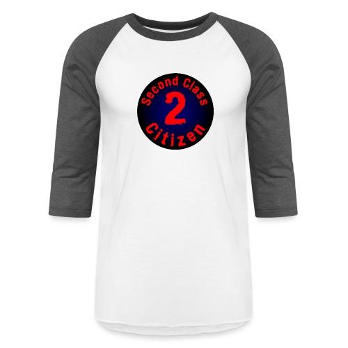 2nd Class Citizen Logo (Dark) - Unisex Baseball T-Shirt