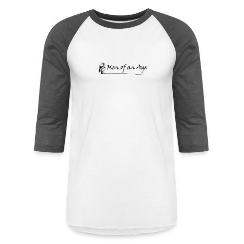 Men of an Age Logo - Unisex Baseball T-Shirt