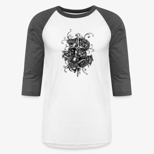 Dagger And Snake - Baseball T-Shirt